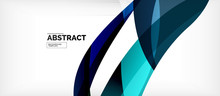 Linear Wave Web Template. Vect...