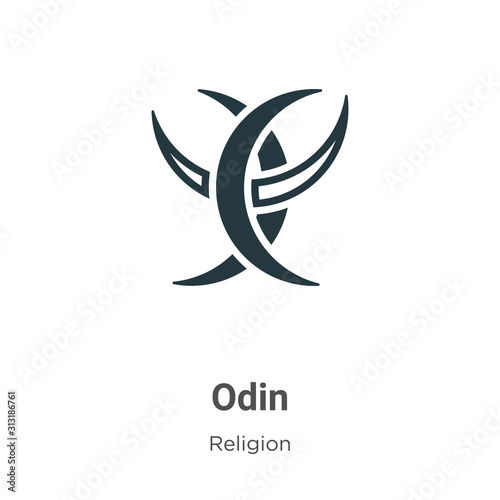 Odin glyph icon vector on white background Wallpaper Mural