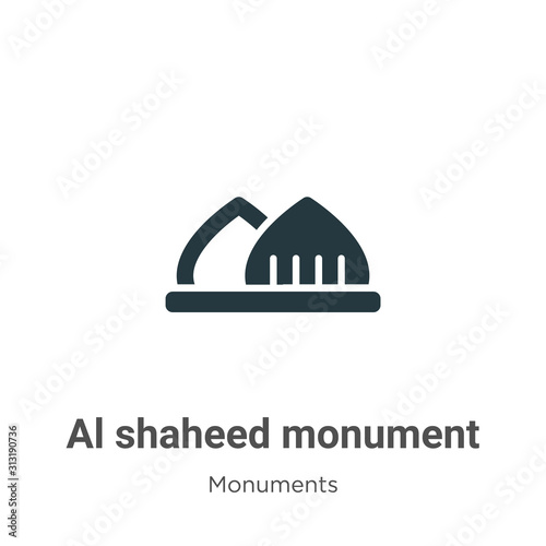Al shaheed monument glyph icon vector on white background Slika na platnu