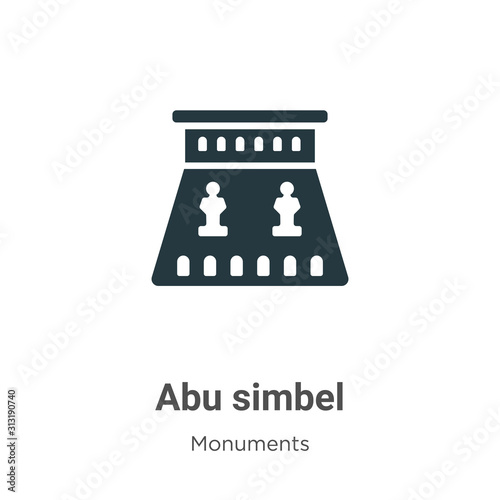 Abu simbel glyph icon vector on white background Fototapet