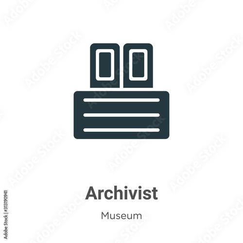 Photo Archivist glyph icon vector on white background