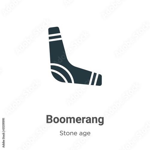 Photo Boomerang glyph icon vector on white background