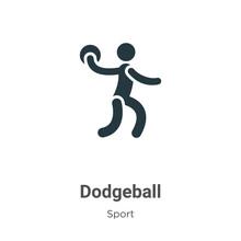 Dodgeball Glyph Icon Vector On...