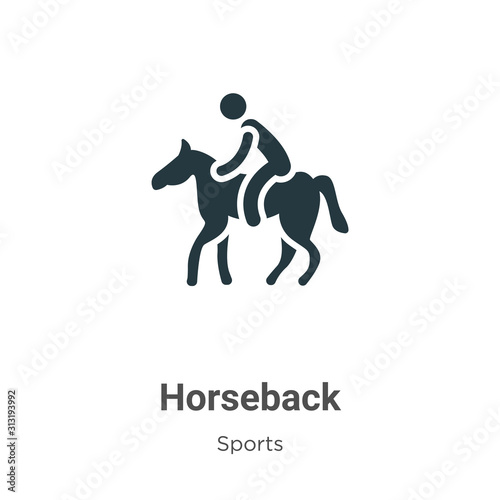 Photo Horseback glyph icon vector on white background
