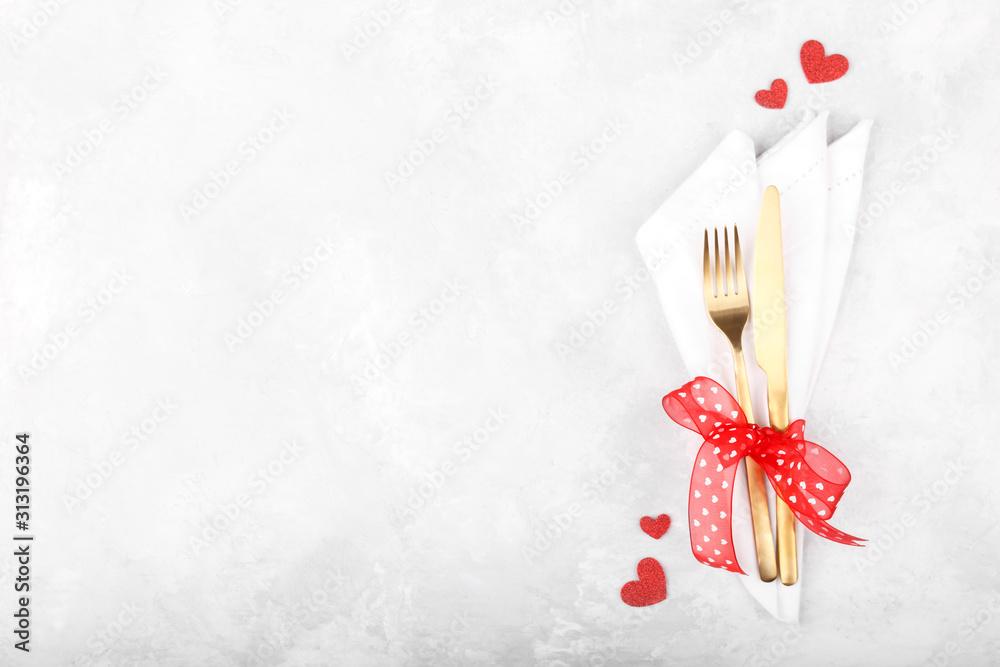 Fototapeta Romantic table setting