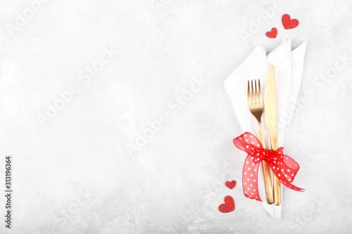 Fototapeta Romantic table setting obraz