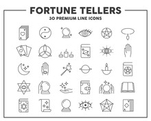 Fortune Tellers Thin Line Icon...