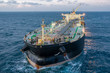 canvas print picture - The oil tanker in the high sea