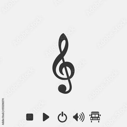Cuadros en Lienzo  melody icon vector illustration symbol