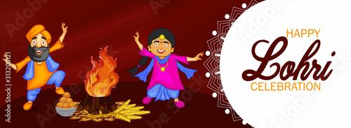Fotomural Happy Lohri Celebration