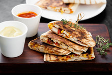 Mexican Quesadilla With Chicke...