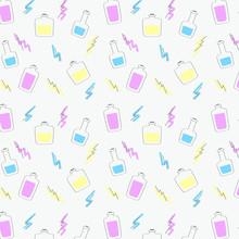 Seamless Pattern Of Hand-drawn...