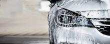 New Modern Car In The Car Wash.
