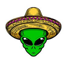 Illustration Of Alien In Sombr...