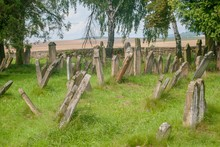 Old Jewish Cemetery With Stone Thombs