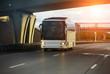 Leinwandbild Motiv white tourist bus