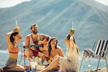 Beach Party. Summer Time. Youn...