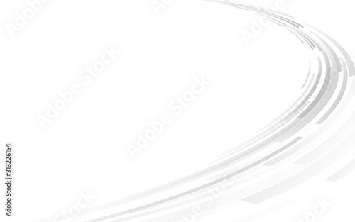 スライド背景 灰色の円形 Wallpaper Mural