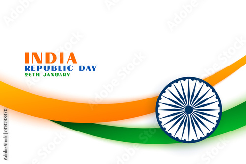 Obraz indian republic day tri color flag concept background - fototapety do salonu