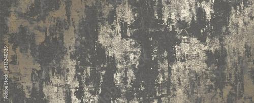 Obraz Metallic Wallpaper Charcoal Gold - fototapety do salonu