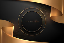 Abstract Black And Gold Backgr...