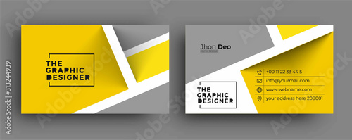 Fototapeta Business Card - Creative and Clean Modern Business Card Template. obraz