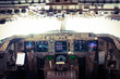 Flight Deck of a Jumbo Jet in Flight