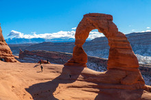 The Delicate Arch, Arches National Park, Utah, USA.