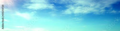 Fototapeta blue sky with beautiful natural white clouds obraz na płótnie