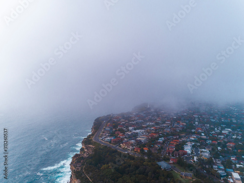 Photo Aerial view of Watson Bay peninsular and road