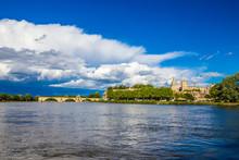 Avignon Cathedral And Rhone Ri...