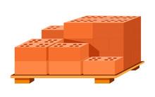 Bricks Stack On Wooden Stand, ...