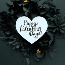 Black Paper Flowers, Floral Ba...
