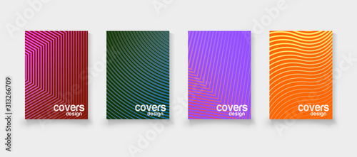 Fototapeta Abstract vector covers design template. Geometric gradient background. Background for decoration presentation, brochure, catalog, poster, book, magazine obraz