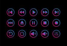 Media Player Control Icon. Play Button Icon. Vector Illustration.