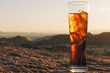 canvas print picture - drink at sunset