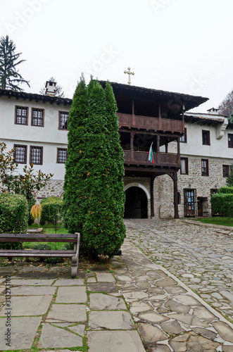 The entrance to the courtyard of the  Troyan Monastery was originally founded in Tablou Canvas