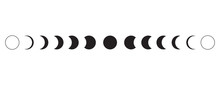 Moon Phases Icon On White Back...