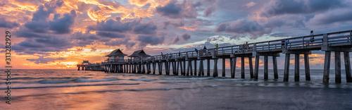 Coastal dreams - Naples Pier in Florida, America. Travel concept