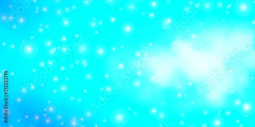 Fototapety, obrazy: Light Blue, Green vector pattern with abstract stars. Colorful illustration with abstract gradient stars. Best design for your ad, poster, banner.