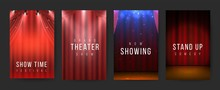 Theater Posters. Red Curtains ...