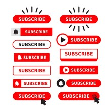 Subscribe, Bell Button Set. Re...