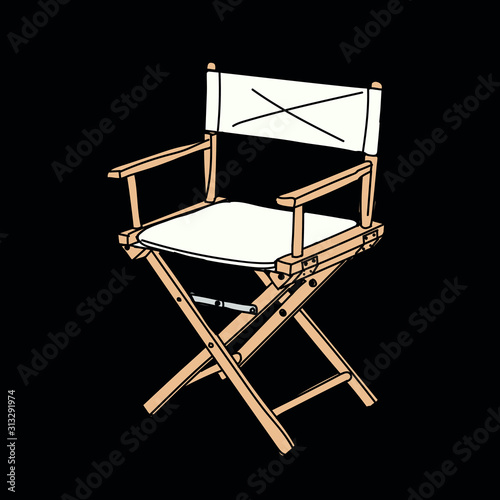Folding director's chair on the set Poster Mural XXL