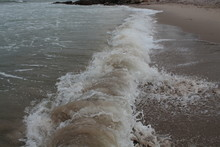 Waves On White Beach