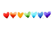 Watercolor Heart Set. Beautifu...