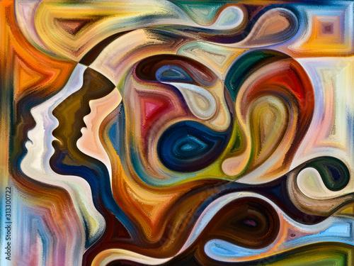 Obraz Przyspieszenie kolorów wewnętrznych - fototapety do salonu