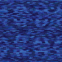 Classic Blue Spliced Vector Broken Pixel Texture. Variegated Mottled Dotted Line Background. Seamless Rough Grunge Pattern. Distorted Masculine Shirting All Over Print. Textile Disrupted Glitch Repeat