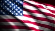 USA flag background, 3d animation. vote