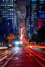 Down California Street At Night