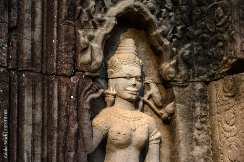 Photo Sculptures temple de Ta Som, Angkor